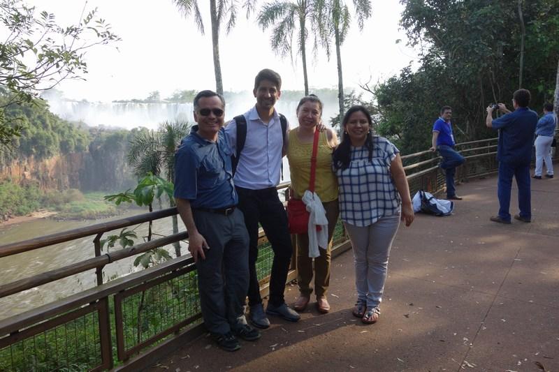 colegas en Iguazú