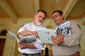 José Miguel Torres y Marco Cordero asistieron desde la región para apoyar a su colega.