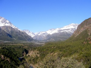 Vista panorámica de la RN Río de Los Cipreses.